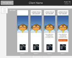 predesign templates donordigital banner ad storyboard template