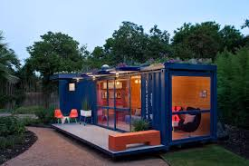 A shipping container converted into a home