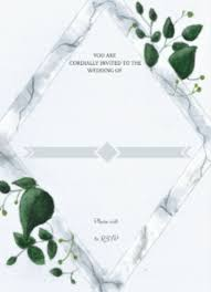 Free Wedding Invitation Template Modern Marbled Eucalyptus