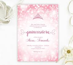 Quincenera Invitations Pink Quinceanera Invitations