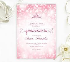 Invitation Quincenera Pink Quinceanera Invitations