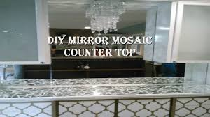 diy mirror mosaic countertop