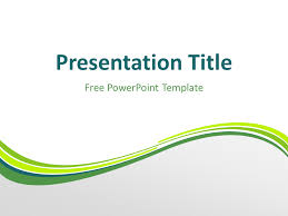 wave powerpoint templates green wave powerpoint template presentationgo com
