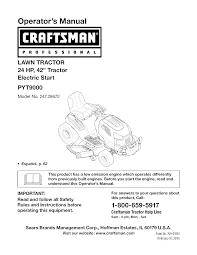 craftsman lawn mower model 917 wiring diagram craftsman craftsman lawn mower pyt 9000 user guide manualsonline com on craftsman lawn mower model 917 wiring