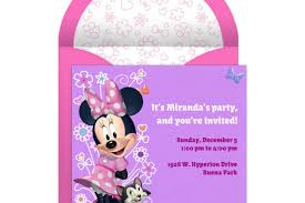 Electronic Birthday Invite Minnie Mouse Party Online Invitation Disney Family