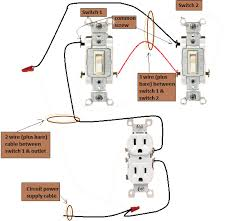 power outlet 3 way switches half switched switch outlet electrical 3 Wires To Outlet power at outlet 3 way switches 3 sets of wires to 1 outlet