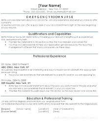 Sample Er Nurse Resume Resume Samples Nurse Experienced Nursing