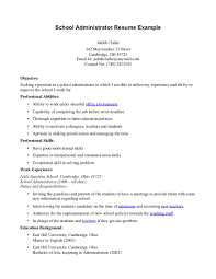 secretary resume format pdf sample for school administrator gallery of sample of secretary resume