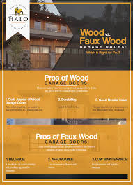 faux wood garage doors vs wood garage doors