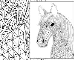 Horse Coloring Pages For Adults Viettiinfo