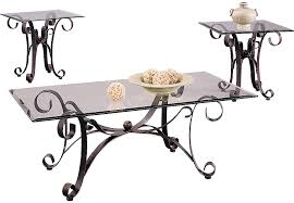 furniture mesmerizing glass top coffee table set 36 cooper metal 3 pc sets regarding rooms