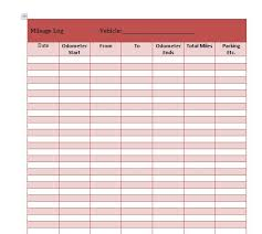 Mileage Records 30 Printable Mileage Log Templates Free Template Lab