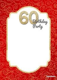 Free Printable 60th Birthday Invitation Free Printable Birthday
