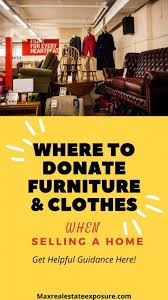to donate furniture and clothes when moving