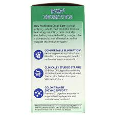 raw probiotics colon care from garden of life is a high potency whole food probiotic formula featuring probiotic strains to promote healthy