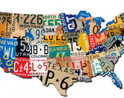 metal license plate wall art
