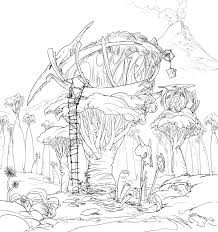 Tree House Coloring Pages At Getdrawingscom Free For Personal Use