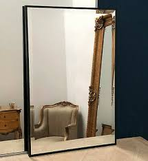 black frame wall mirror floating glass