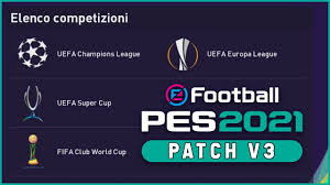 PES 2021 TUTORIAL PS4 - PATCH V3 - Kits Nazionali, Champions League ed  Europa League - YouTube