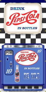 Pepsi Can Vending Machine Inspiration PEPSICOLA CHEST VENDING MACHINE SIGN MURAL Printed Banner XXL 48