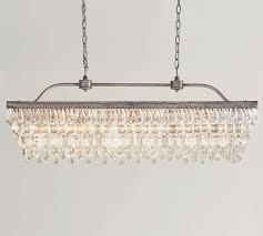 clarissa glass drop extra long rectangular chandelier lightning