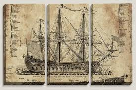 office decor for man. Old Ship Blueprint, Canvas Art, Nautical, Map, Boys, Office Decor, Mens Triptych, Man Cave, Vintage Wall, Pirate Decor For