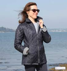 Women's Navy Blue Quilted Jacket, Lightweight - THE NAUTICAL ... & Women's Nautical Navy Blue Quilted Jacket, ... Adamdwight.com