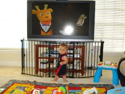 baby gate to go around fireplace