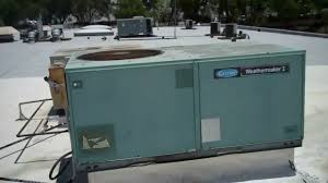 hvac here is a carrier packaged unit and a york