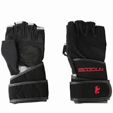 gym gloves building genuine leather fitness weight lifting gloves wrist wraps bandage yoga cycling gloves
