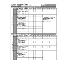 football workout schedule strength program