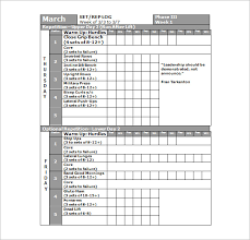workout schedule template 27 free word excel pdf format