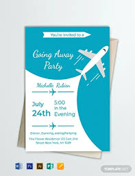 Free Going Away Party Invitations Free Going Away Party Invitation Template Word Psd