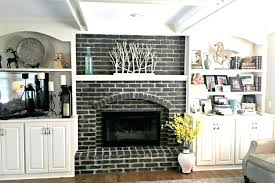brick wall fireplace fake an antique brick finish brick wall fireplace design ideas