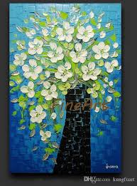hand painted palette knife oil painting flower nature abstract painting wall canvas art sets oil pictures contemporary oil paintings texture