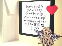 Sympathy Card Pet Loss Dog Loss Gifts Of Pet Sympathy Card For And Quotes Losing A Dogs