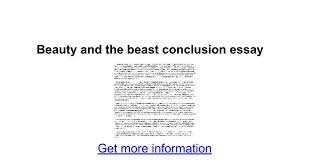 beauty and the beast conclusion essay google docs