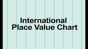 International Value Chart Class 5 Maths International Number System And Place Value Chart Pearson