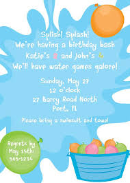 Balloon Birthday Invitations 24 Printed Invitations Water Balloon By Sugarandspicenola On Etsy