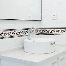 living room waist line tiles wall sticker bathroom waterproof pvc wallpaper