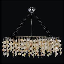 glow lighting chandeliers. Oval Chandelier With Oyster Shell And Crystal   Seaside Dreams 578 By GLOW Lighting Glow Chandeliers