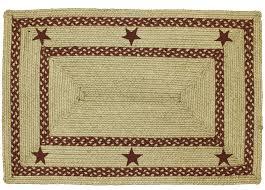hsd texas red rectangle braided jute rug lrg