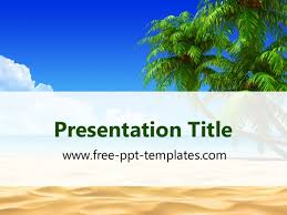 Summer Powerpoint Templates Tropical Beach Ppt Template