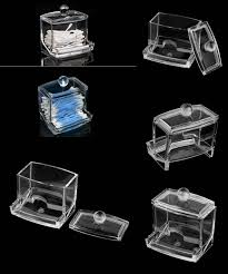 [Visit to Buy] 2017 Home Use Clear Acrylic Q-Tip Storage Holder Box  Transparent Cotton Swabs Stick Cosmetic Makeup Organizer Case