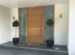 modern front doors. Contemporary Oak Door With Sandblast Sidelights More Modern Front Doors