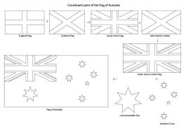 Samenstellende Delen Van De Vlag Van Australië Kleurplaat Gratis
