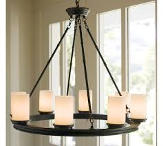 pillar candle chandelier