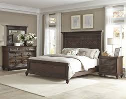 Palencia 4 Piece Panel Bedroom Set in Dark Brown