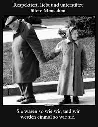 Respektiert Liebt Und Unterstützt ältere Menschen Lustige
