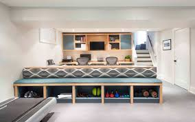 trendy custom built home office furniture. interesting home homeofficeshelvingbasementcontemporarywithbasementbeigewallbuiltin   beeyoutifullifecom inside trendy custom built home office furniture